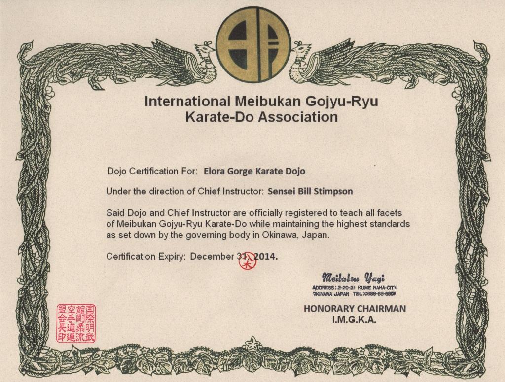 IMGKA Certificate 2014